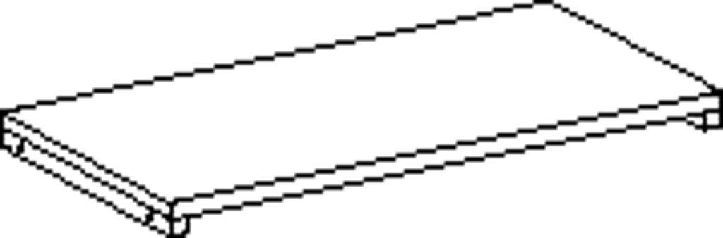 Rechteckig Feststellenboden 80 cm
