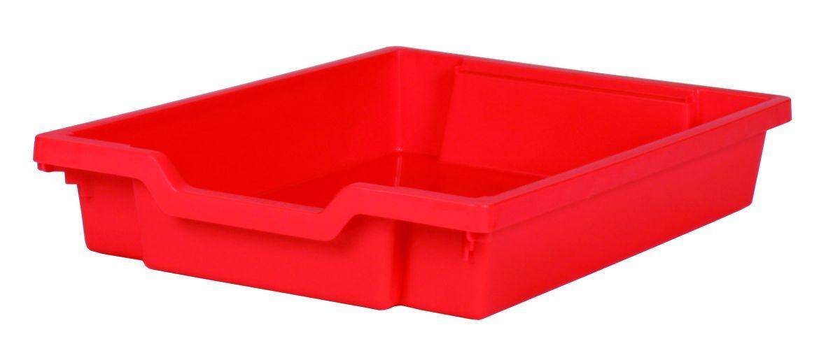 Plastik-Schubfach - Höhe 7,5 cm, rot