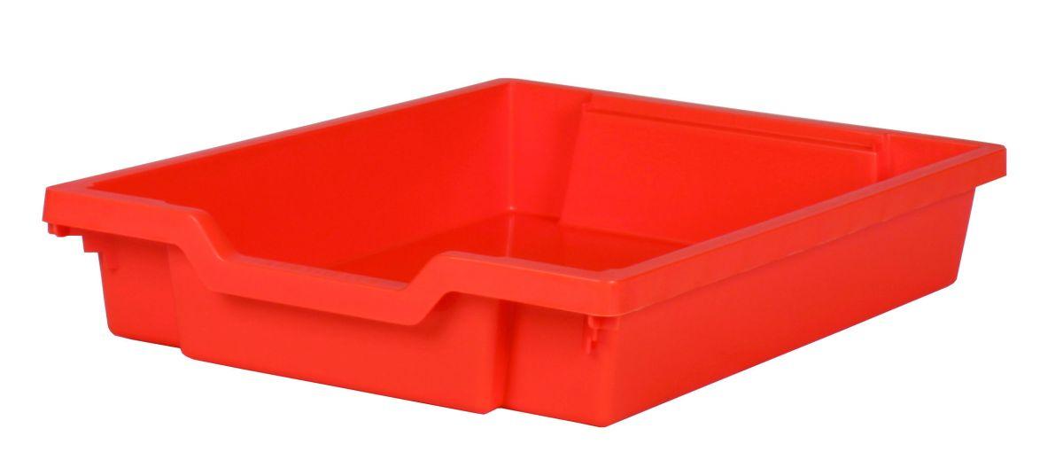 Plastik-Schubfach - Höhe 7,5 cm, orange