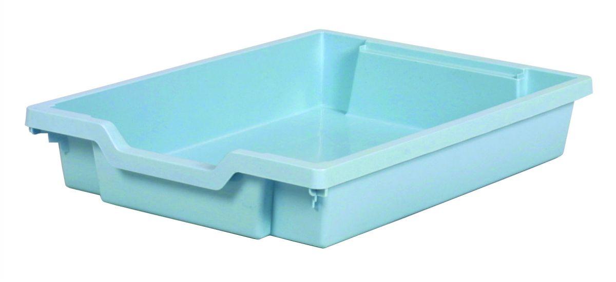 Plastik-Schubfach - Höhe 7,5 cm, hellblau