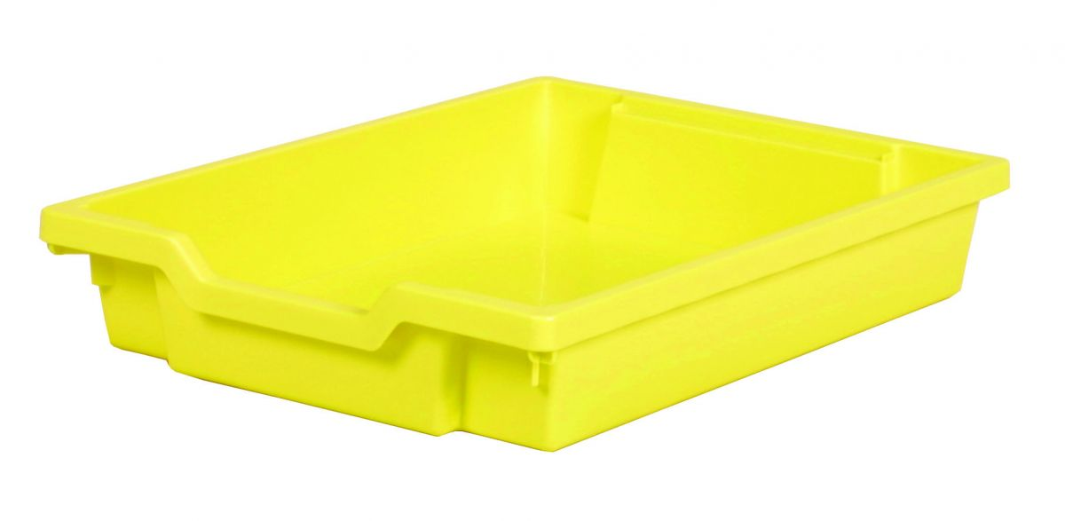 Plastik-Schubfach - Höhe 7,5 cm, hellgelb