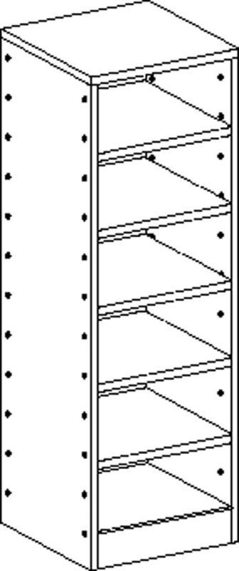 Korpusschrank mit 5 Einlegeböden