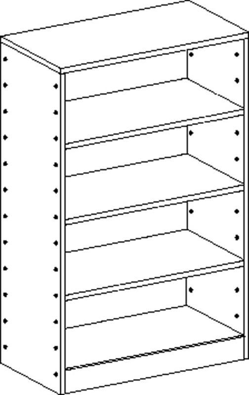 Korpusschrank mit 3 Einlegeböden