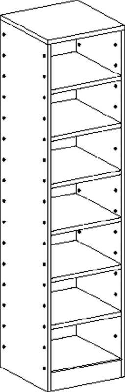 Korpusschrank mit 6 Einlegeböden