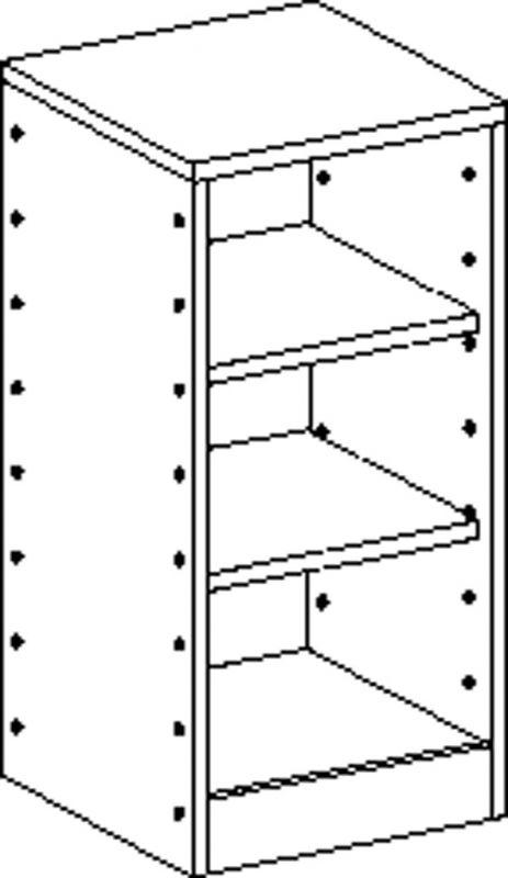 Korpusschrank mit 2 Einlegeböden