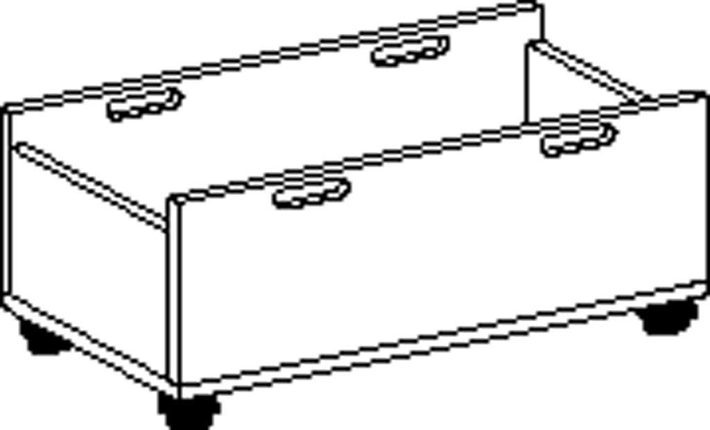Materialkasten Fahrbar, laminierte