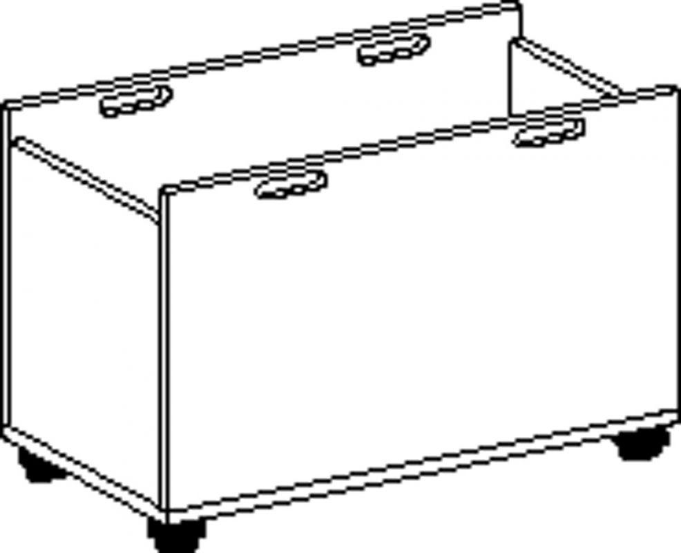 Materialkasten Fahrbar, laminierte Buche