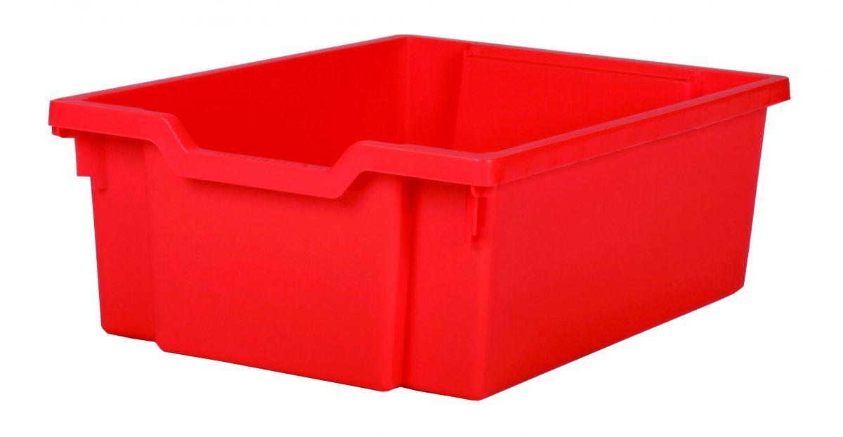 Plastik-boxe, Höhe 15 cm - rot