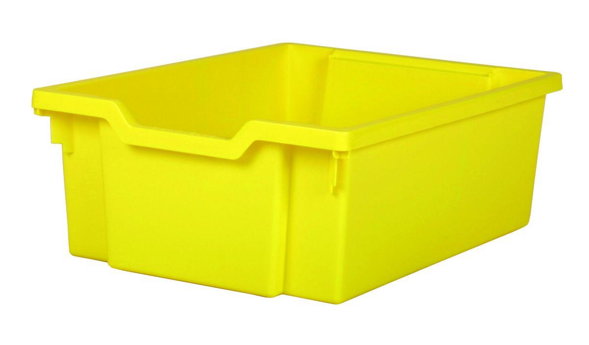 Plastik-boxe, Höhe 15 cm- gelb