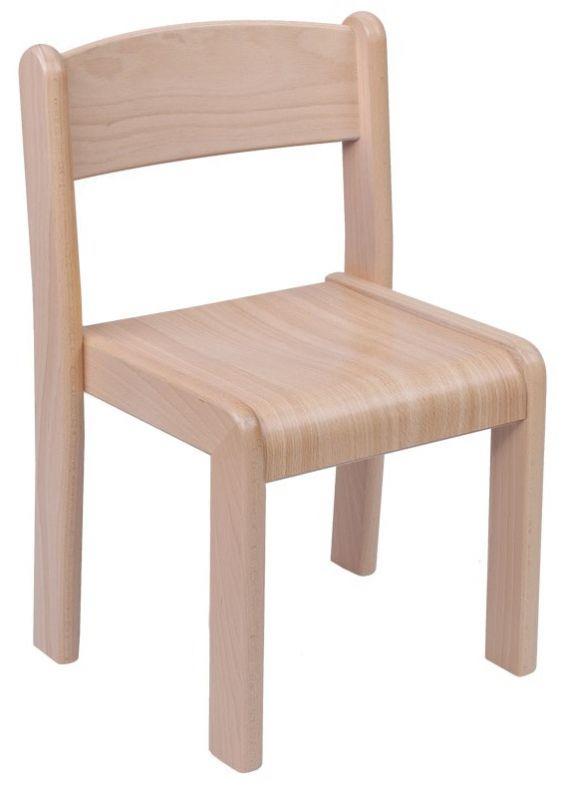 Stapelbar Stuhl VIGO - Buche dekor
