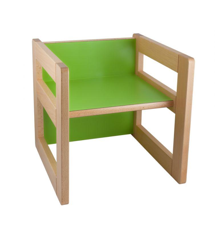 """Multifunktionselement """"CUBE"""" als Stuhl 15/22 cm oder kleiner Tisch"""