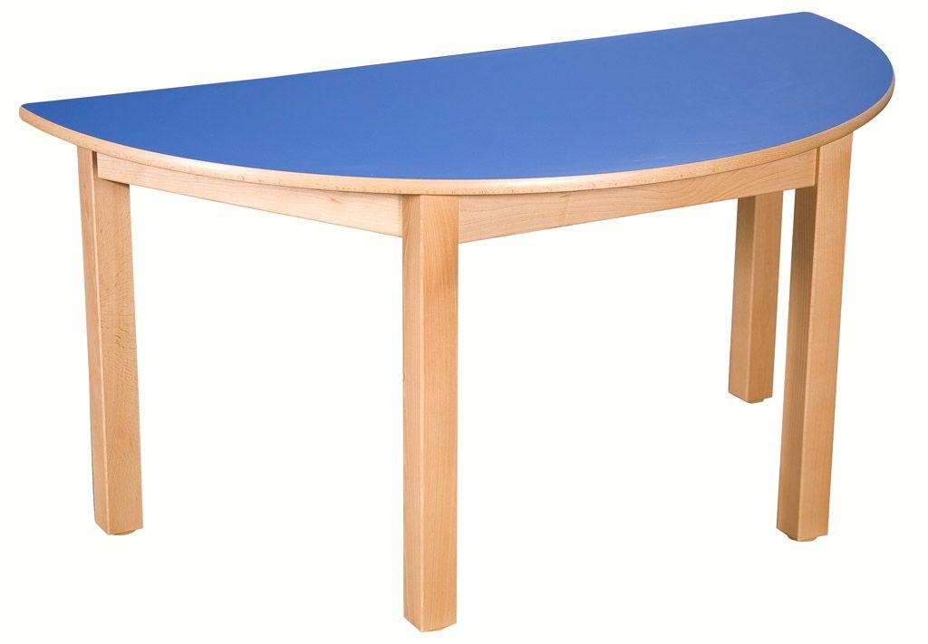 Halbrund Tisch 80 x 40 cm mit HPL-Tischplatte