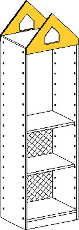 Korpusschrank mit 1 fest Einlegeböden und 3 einstellbar Einlegeböden und Rückwand bis 2/3