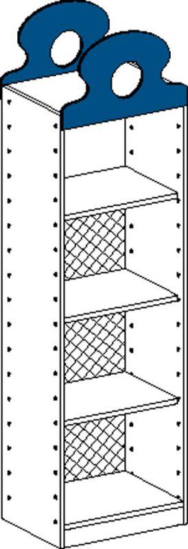 Korpusschrank mit 1 fest Einlegeböden und 2 einstellbar Einlegeböden und Rückwand bis 2/3