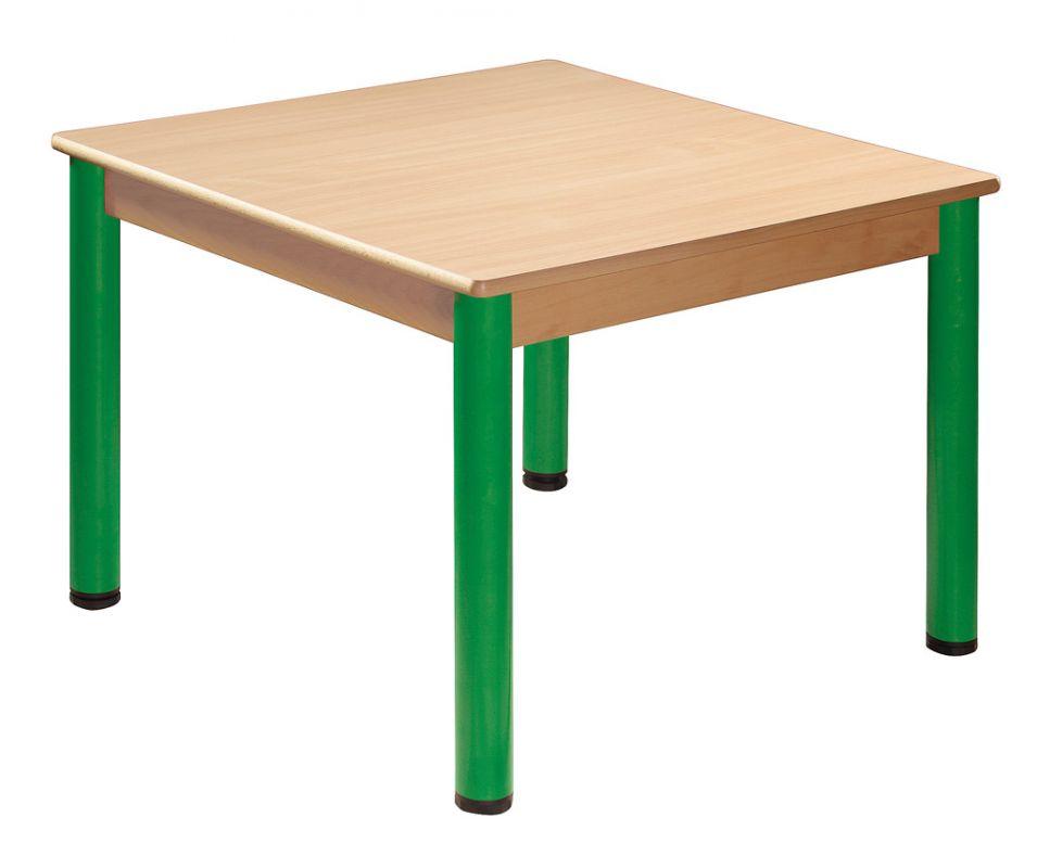 Quadrat Tisch 70 x 70 cm mit Nivellierfüßen