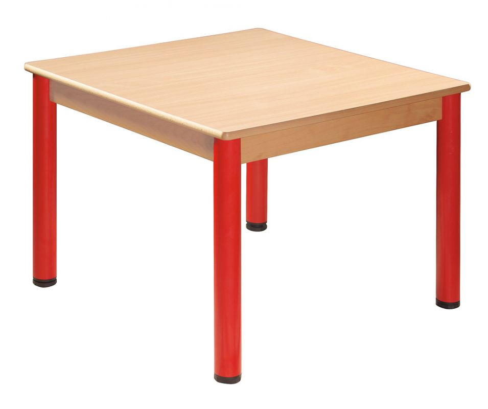 Quadrat Tisch 80 x 80 cm mit Nivellierfüßen