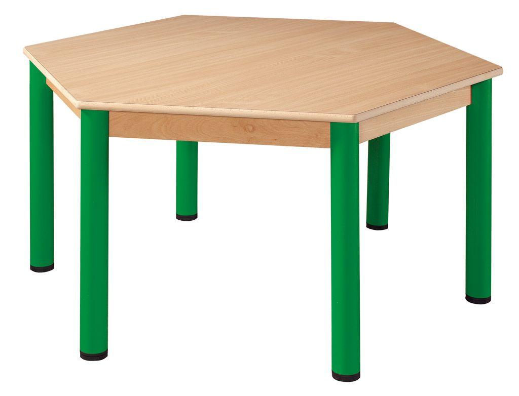 Hexagonal Tisch 120 cm mit Nivellierfüßen