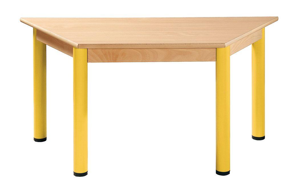 Trapezoidal Tisch 120 x 60 mit Nivellierfüßen