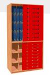 Matratzenschrank 130 cm mit Schiebetür für 12 Kinder