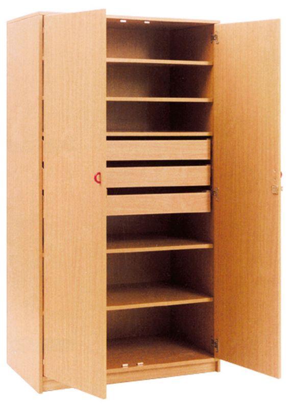 Materialschrank mit abschließbare Türen