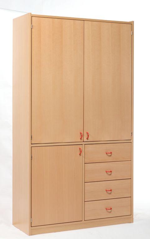 Korpusschrank mit 3 Türen und 4 Schubkästen