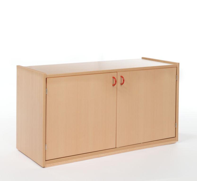 Korpusschrank Aufsatz mit 2 Türen und 1 Boden / Tiefe 60 cm