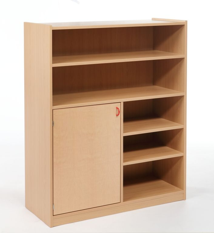 Korpusschrank mit 1 Tür und 3 Einlegeböden, decor Buche
