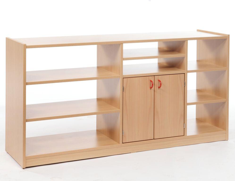 Korpusschrank mit 2 Türen ohne Rückwand, decor Buche