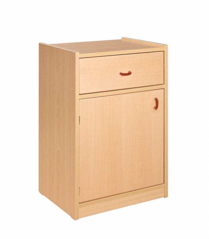 Korpusschrank mit 1 Tür und 1 Schubkasten, decor Buche