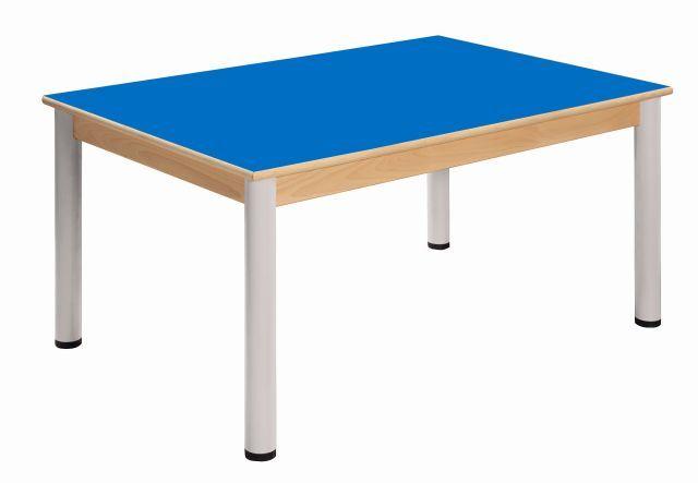 Tisch 120 x 80 cm / Höhenverstellbare Füße 58 - 76 cm