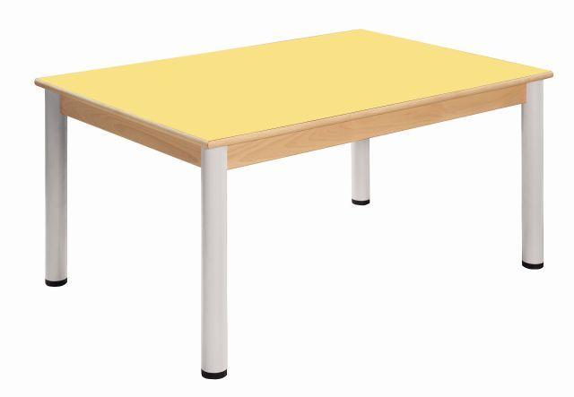 Tisch 80 x 60 cm / Höhenverstellbare Füße 58 - 76 cm