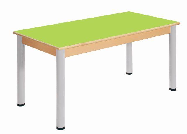 Tisch 120 x 60 cm / Höhenverstellbare Füße 52 - 70 cm