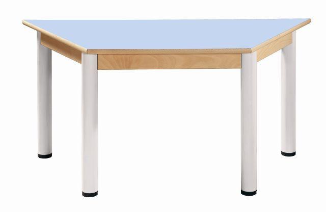Trapezoidal Tisch 120 x 60 / Höhenverstellbare Füße 36 - 52 cm