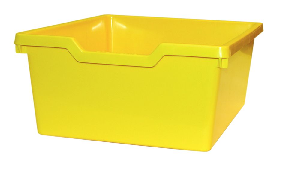 Plastik-box N2 DOUBLE - hellgelb Gratnells
