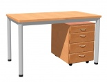 Tabelle 130 x 70 cm / Metallrahmen, Formica