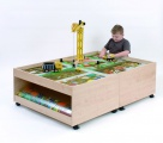 Spieltisch mit Schubladen 104x77x51 cm