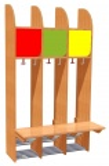 Details anzeigen - Garderobe Komplett, 3 Plätze, Farben mix