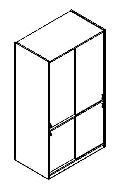 Materialschrank mit 4 Einlegeböden mit 4 schiebe Türen