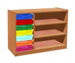 Korpusschrank mit 7 Plastik-Schubfächer, Farben mix