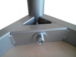 Tabelle 180 x 80 cm / Metallrahmen, Formica