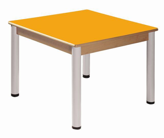 Quadrat Tisch 80 x 80 cm / Höhenverstellbare Füße 52 - 70 cm
