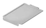Deckel auf dem Kunststoffsockel F1, F2, F3 - klar