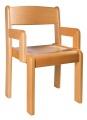 Stuhl TIM mit Armlehne - gebeizte Sitz und Rücke