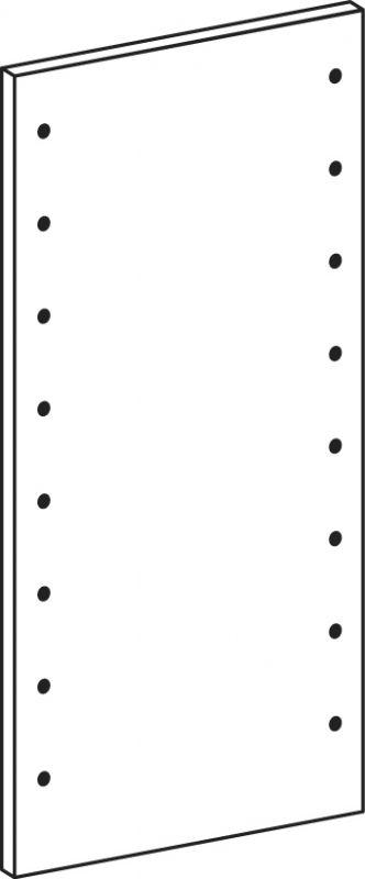 Voll-seiten-panele - Höhe 82.6 cm