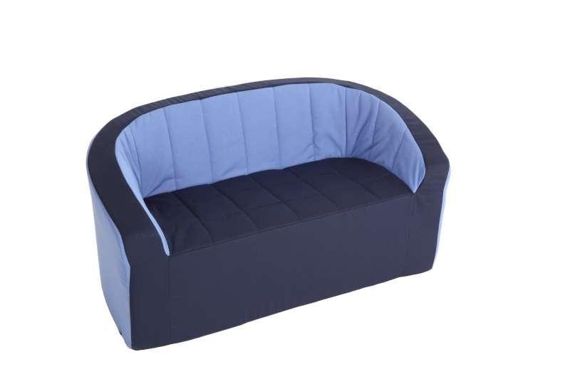 Doppel-Sessel/ hellblau