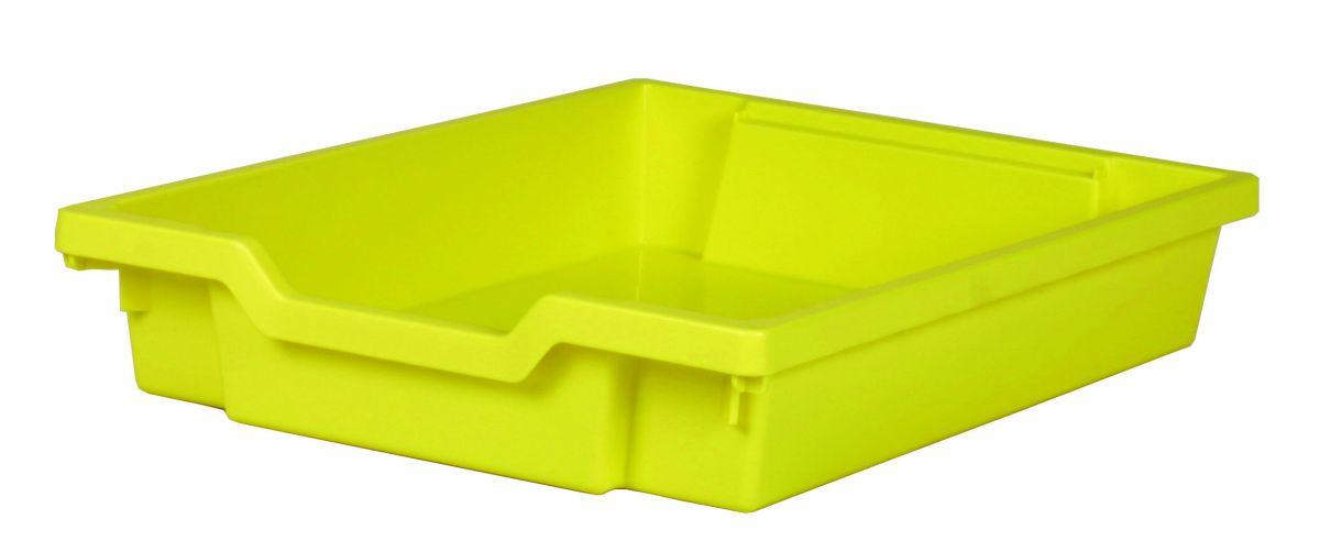 Plastik-Schubfach - Höhe 7,5 cm, gelb Gratnells
