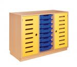Korpusschrank mit 2 Türen, Farben mix
