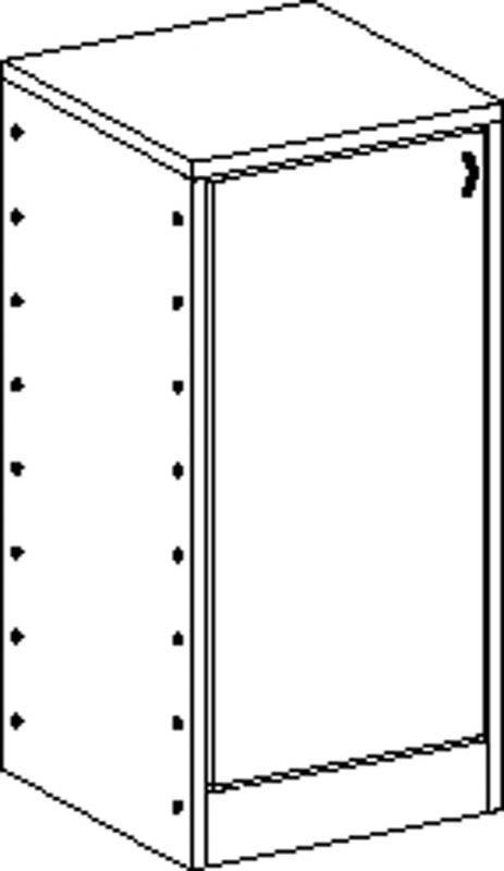 Korpusschrank mit 2 Einlegeböden und door