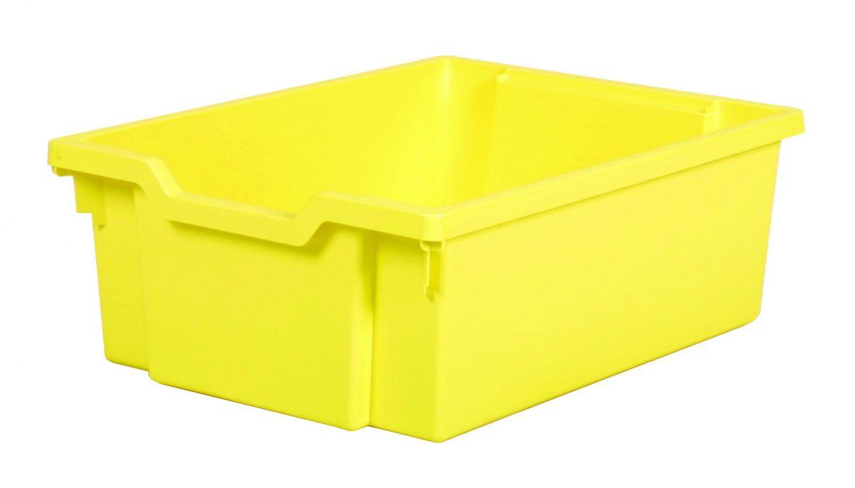 Plastik-box DOUBLE - hellgelb Gratnells