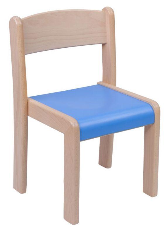 Stapelbar Stuhl VIGO HPL Sitz in Farbe